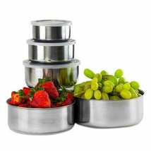 Stainless Steel Food Bowl Lid Home Kitchen House Cooking Eco-Friendly So... - $27.23