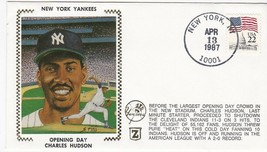 CHARLES HUDSON NEW YORK YANKEES OPENING DAY NEW YORK NY 4/13/1987 Z SILK  - $2.98