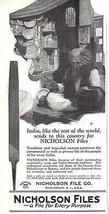 Nicholson File AD 1925 Antique Collectible Tool Advertisement Nicholson ... - $12.99