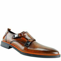 Alfani AlfaTech Men's Heath Double Monk Plain-Toe Loafers Brown 12 M MSRP 109... - $70.78
