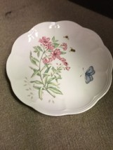 "Lenox Butterfly Meadow Swallowtail Lunch Plate 9"" Flower Bees Nature - $14.50"