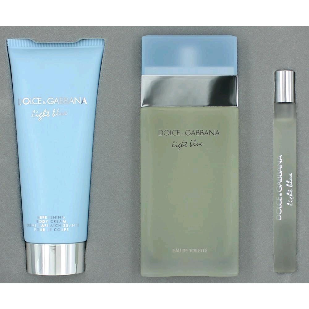 Dolce   gabbana light blue 3 piece gift set for women 5