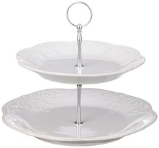 Lenox  French Perle Tiered Server White  - $69.29