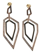 Edison 14K Yellow Gold Plated Cubic Zirconia Dangle Drop Post Earrings