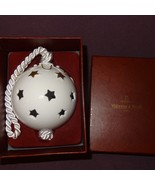 Villeroy and Boch Ball Christmas Tree Ornament Star White Gold Tone Holiday - $23.78