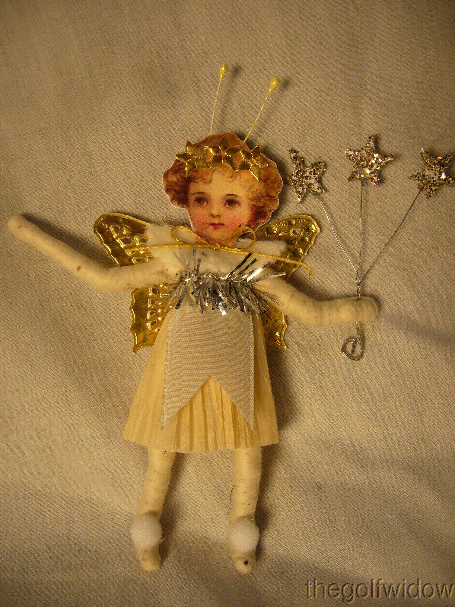 Vintage Inspired Spun Cotton Flying Fairy no. E 31