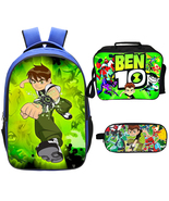 Ben 10 Backpack Lunch Box Pencil Case Outdoor School Package B - $45.99