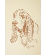 BASSET HOUND DOG ART #47 Stephen Kline draws dogs name free. DRAWN FROM ... - $49.45