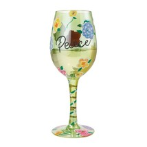 """Peace """"Designs by Lolita"""" Wine Glass 15 o.z. 9""""  Gift Boxed image 2"""