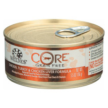 Wellness Pet Products Cat Food - Core Chicken - Turkey and Chicken Liver... - $88.08