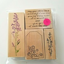 Rubber Stampede Floral Assorted Stamps, EUC 4 Stamps - $12.10