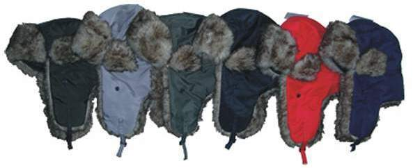 Case of [72] Adult Fur Lined Aviator Hats