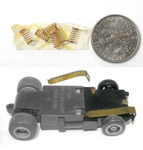 6 1981 Ideal Toys HO Slot Car Pickup Shoe SPRINGS are Aurora 8888 Work Fine! - $3.95