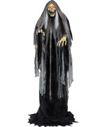 Animated Life Size Rising Grim Reaper Halloween Prop SEE VIDEO - $233.39