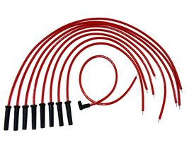 9.5mm Red Silicone High Performance Spark Plug Wire Set Universal Fit V8 V6 image 3