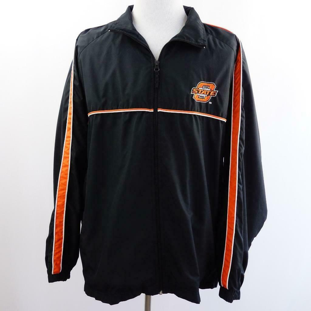 Primary image for Oklahoma State University Starter Jacket Flannel Lined Hibbett Sports Mens Sz XL