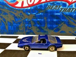 Hot Wheels 1988 3972 '80s Firebird Blue Black Int bw/gold Silver Tampo S... - $0.98