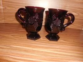 Avon 1876 Ruby Red Cape Cod:   2 Pedestal Mugs - $9.85