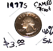 1977S George Washington Quarter,  Mint, Proof, Cameo, GEM, BU - $3.50