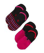 HUE Womens Sneaker Liner Socks 2 Pair Value Pack Mulberry - NWT - $3.95