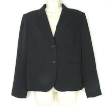 Talbots Blazer Jacket Women Size 12P Black Lined Long Sleeve Career Work... - $21.03