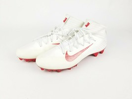 New Nike VPR Flyweave White and OrangeFootball Cleats Size-15 - Free Shipping - $33.82