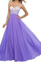 A-Line One Shoulder Sleeveless Beaded Cheap Long Prom Dress Evening Party Dress - $135.00