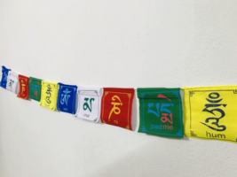 OM Mani Peme Hum Tibetan Mini Prayer  Flags contain 10 Flag - $2.90
