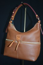 NWT! Dooney & Bourke Dillen Leather Small Pocket Satchel in Saddle Brown... - $199.00