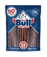 ValueBull Bully Sticks, Thin 12 Inch, 50 Count - All Natural Dog Chews, ... - $92.56
