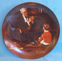 KNOWLES COLLECTOR PLATE THE TYCOON NORMAN ROCKWELL - $10.84