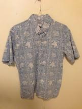 Reyn Spooner Hawaiian Shirt Vtg Beach Aloha Party Camp Print Allover Men... - $38.61