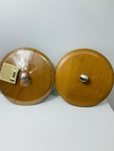2002 Longaberger Woodcrafts Ice Bucket Lid #50842 Made In USA Lot of 2 - $60.00