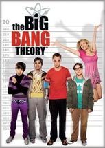 The Big Bang Theory Original Cast IQ Lineup Photo Refrigerator Magnet NE... - $3.99