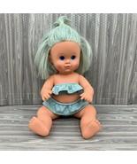 Vintage Tonka Doll Bathing Beauty 1985 Blue Hair Original 2 Pc Swimsuit ... - $29.99