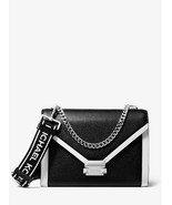NWT Michael Kors 30H8SWHL3L Whitney Large Shoulder bag in Black/Optic White - $249.00