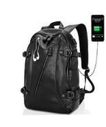 Usb Charging Leather Backpacks - $79.19