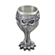 Halloween Сup Art Skull Skeleton Dragon Claw Cup Wine Glass Collectors ... - $54.66