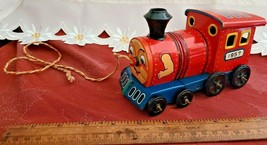 VINTAGE 1957 TIN MAR TOYS TRAIN ENGINE PULL TOY