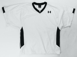 Under Armour Performance Football Training Jersey Men's Large White Black - $19.30