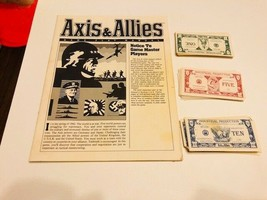 Vintage 1984 Axis & Allies Board Game Pieces - $10.00