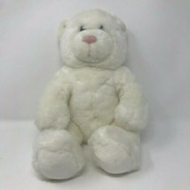 BABW Build A Bear White Teddy Bear Plush Stuffed Animal - $29.99