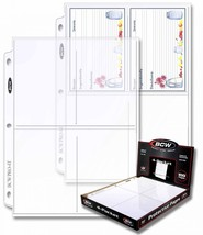 1 Case of (1000) BCW PRO 4-POCKET PHOTO BINDER PAGES 3.5 x 5.25 - $31.64