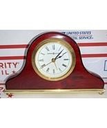 Howard Miller Desk Clock 613-489 Rosewood and Brass Quartz - $37.11