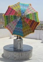Big Garden Marriage Umbrella Patio Colorful Embroidery Home decor Art In... - $94.05