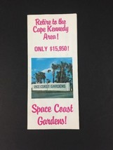 Print Advertising Housing Space Coast Gardens Cape Kennedy Florida Brochure - $17.72