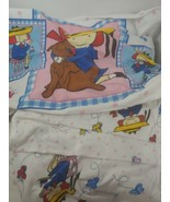 Madeline doll TWIN Sheet set flat fitted + pillowcase children's bedding... - $49.49