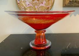 "Kosta Boda Footed Twister Bowl Centerpiece by Kjell Engman 14 1/4"" - $169.00"
