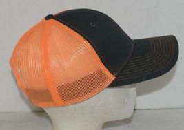 Port Authority C112 Snapback Trucker Cap Grey Steel Neon Orange image 3