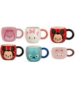 Disney Store Tsum Tsum Mug Stitch Cheshire Cat Piglet Marie Alice Minnie... - $54.95